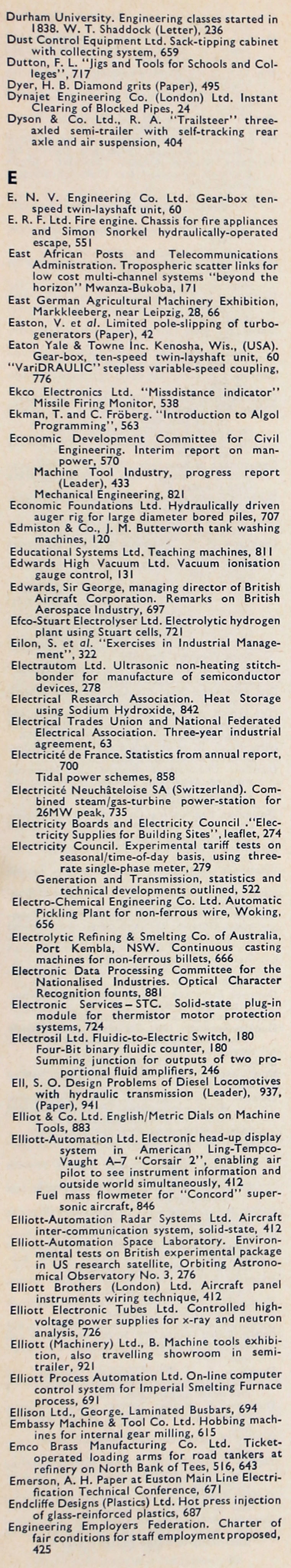 The Engineer  JulDec Index Graces Guide - English electric relay application guide