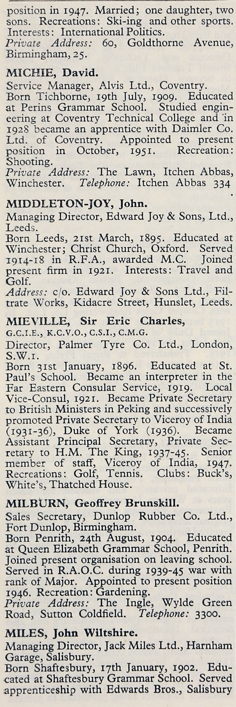 1953 whos who in the motor industry persons m graces guide im1953wwm p444ag aiddatafo Choice Image
