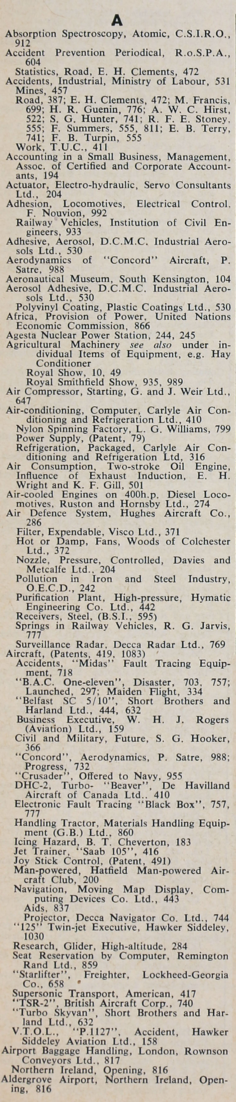 the engineer 1963 jul dec index sections 2 and 3 graces guide from graces guide