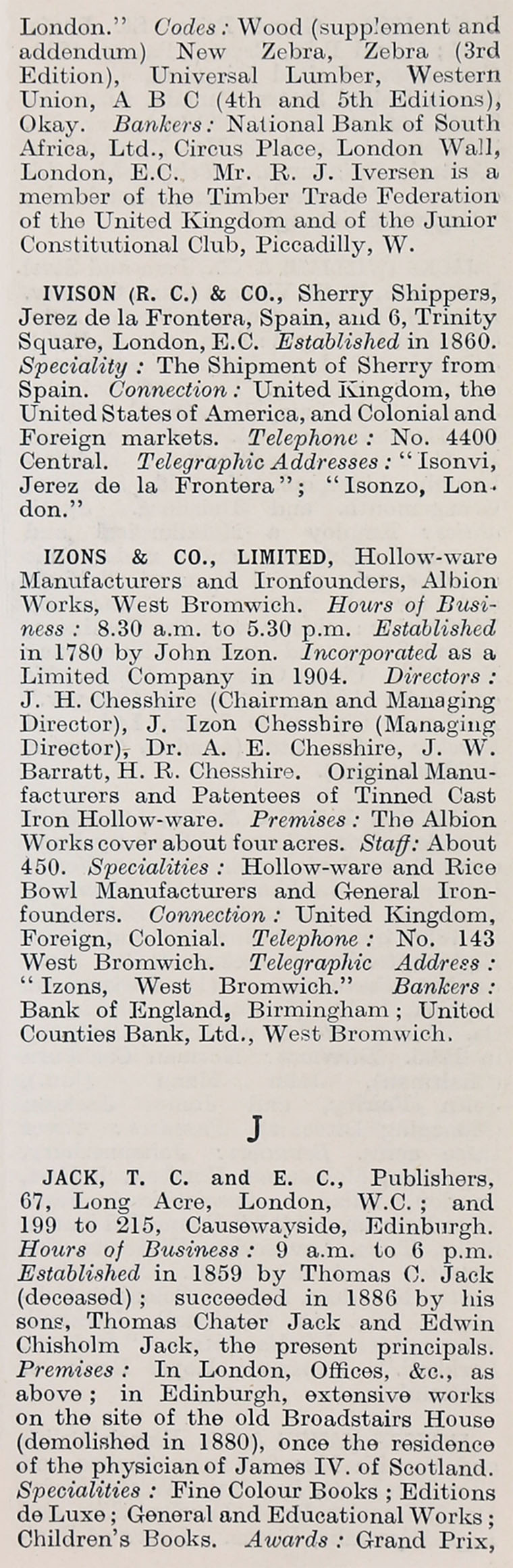 1914 Whou0027s Who in Business Company