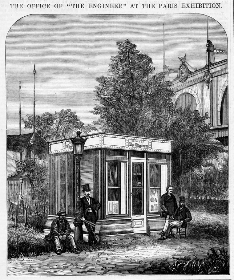 67ca5be0082 1867. The office of The Engineer at The Paris Exhibition.