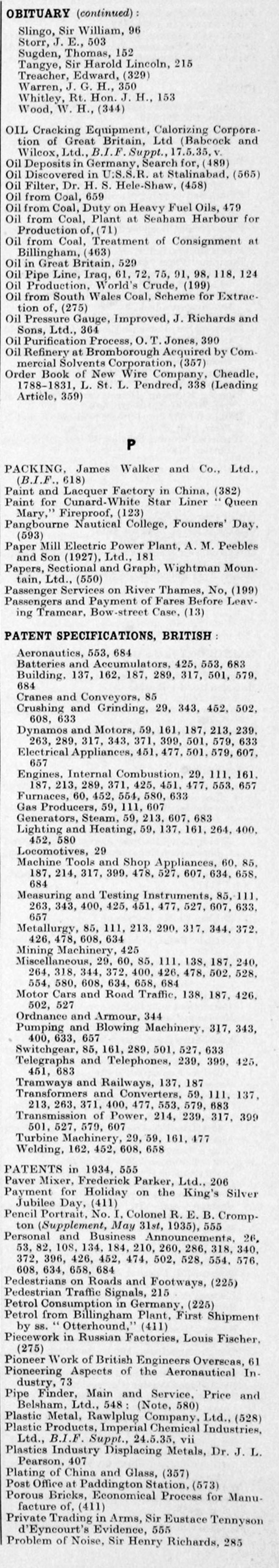 The Engineer 1935 Jan Jun Index Lincoln Sam 400 Wiring Diagram