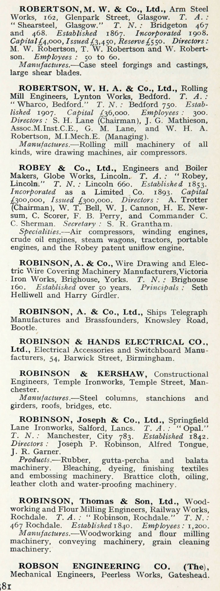 1922 Whos Who In Engineering Company R Ripaults Wiring Terminals Im1921bwwe P581b