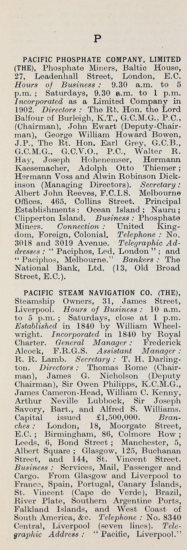 3858f881e91 1914 Who's Who in Business: Company P - Graces Guide