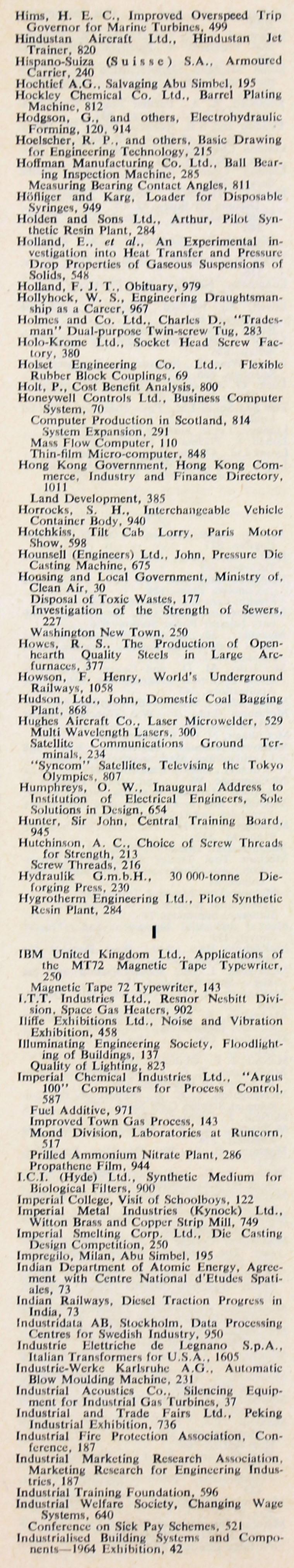 The engineer 1964 jul dec index the engineer 1964 jul dec index fandeluxe Images