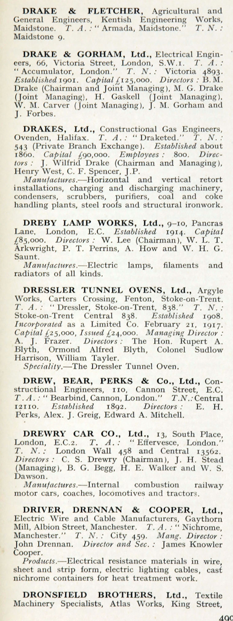 1922 who s who in engineering company d graces guide im1921bwwe p499a jpg