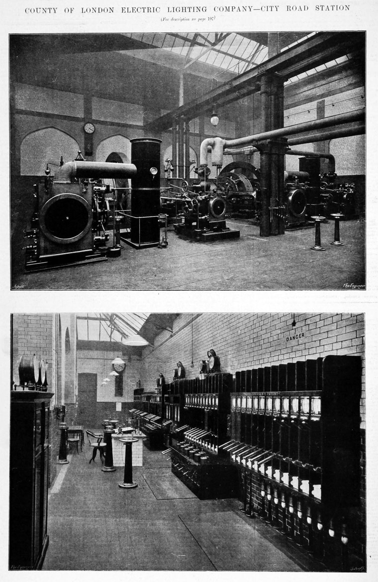 Engine Room Layout: County Of London Electric Lighting Co