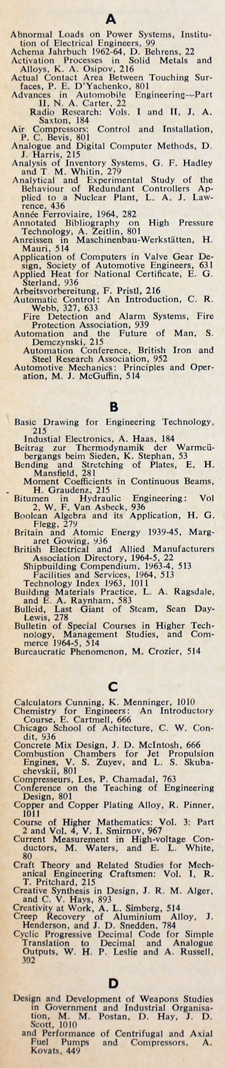 The engineer 1964 jul dec index sections 2 and 3 fandeluxe Images