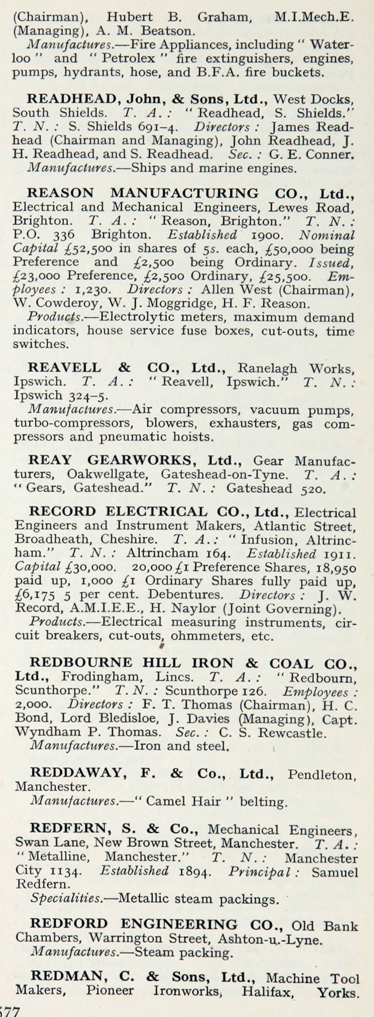 1922 Whos Who In Engineering Company R Ripaults Wiring Terminals Im1921bwwe P577b