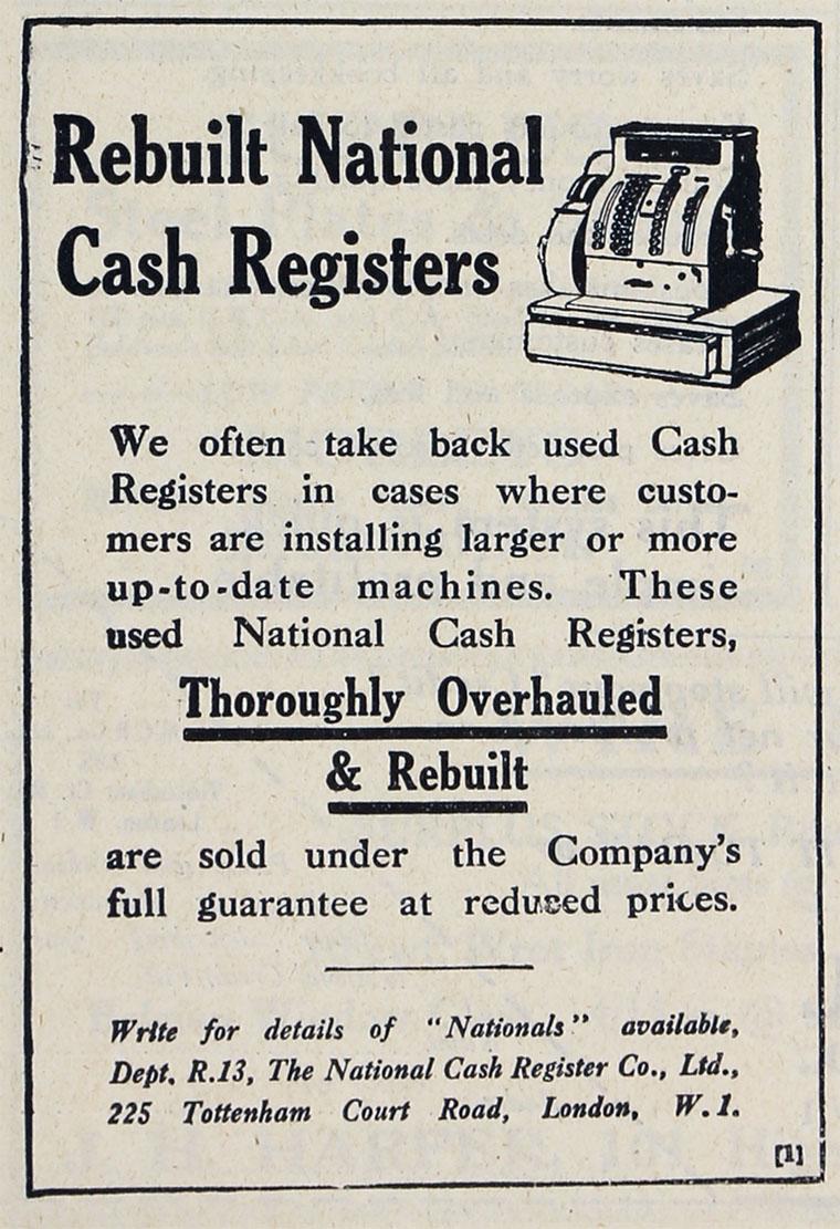 dating ncr cash register