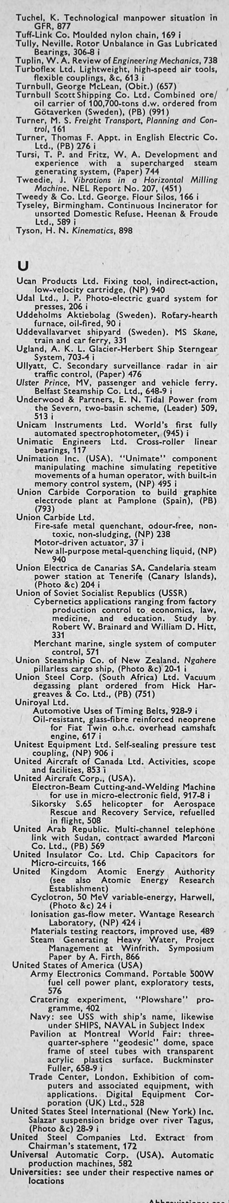 the engineer 1967 jan jun index rh gracesguide co uk