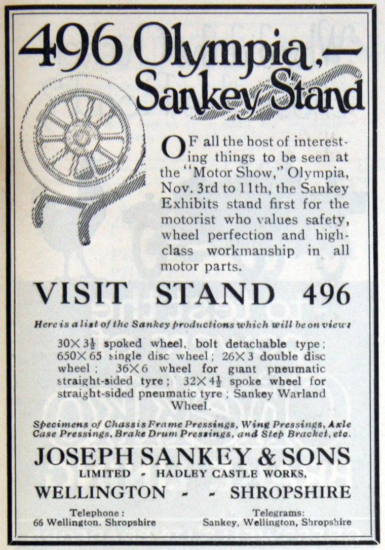Joseph Sankey And Sons 3 4 Ton Trailer Wiring November 1922