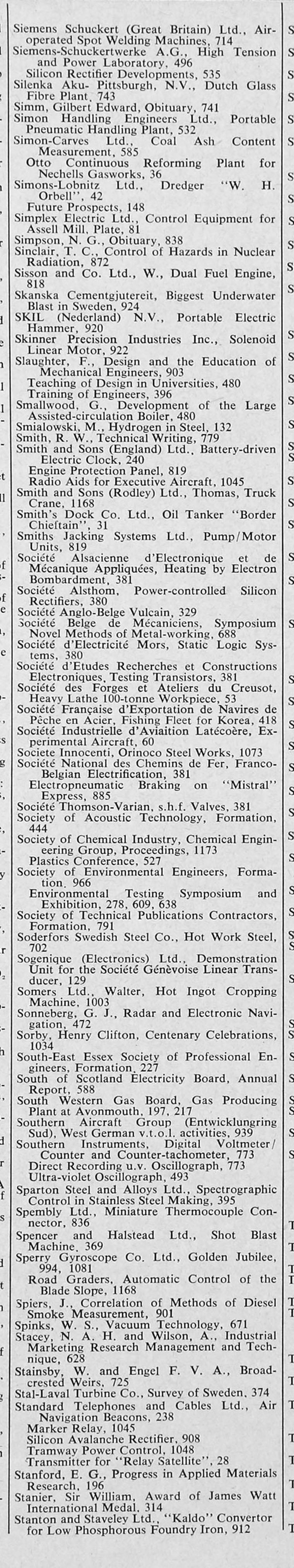 The Engineer 1963 Jan Jun Index # Modele Des Tables Pour Television Plasma En Fer Forge