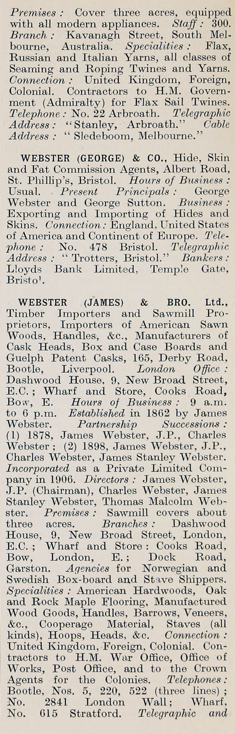 1914 Who's Who in Business: Company W - Graces Guide
