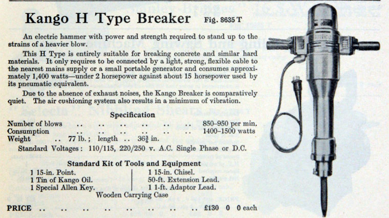 Kango Electric Hammers - Graces Guide