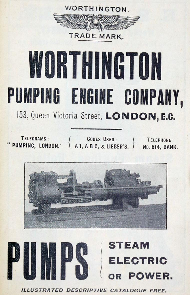 Worthington Pumping Engine Co - Graces Guide