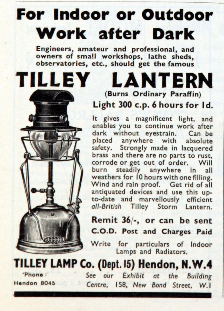 Tilley Lamp Co Graces Guide