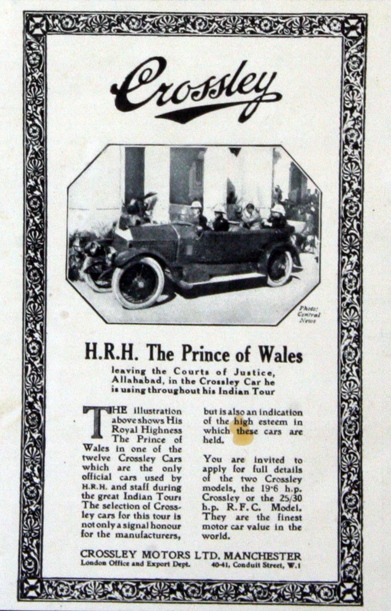 Crossley Motors Cars Crosley Car Wiring Diagram March 1922