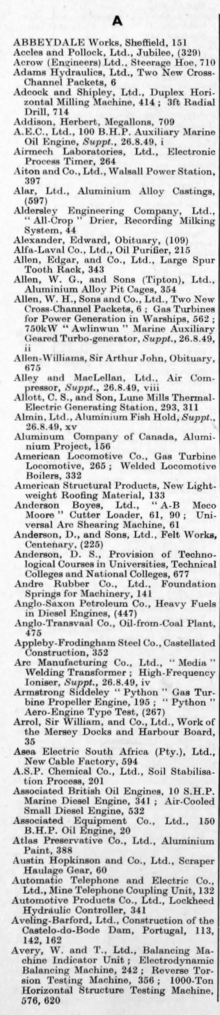 the engineer 1949 jul dec index graces guide from graces guide