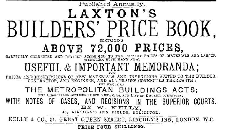Laxtons Building Price Book