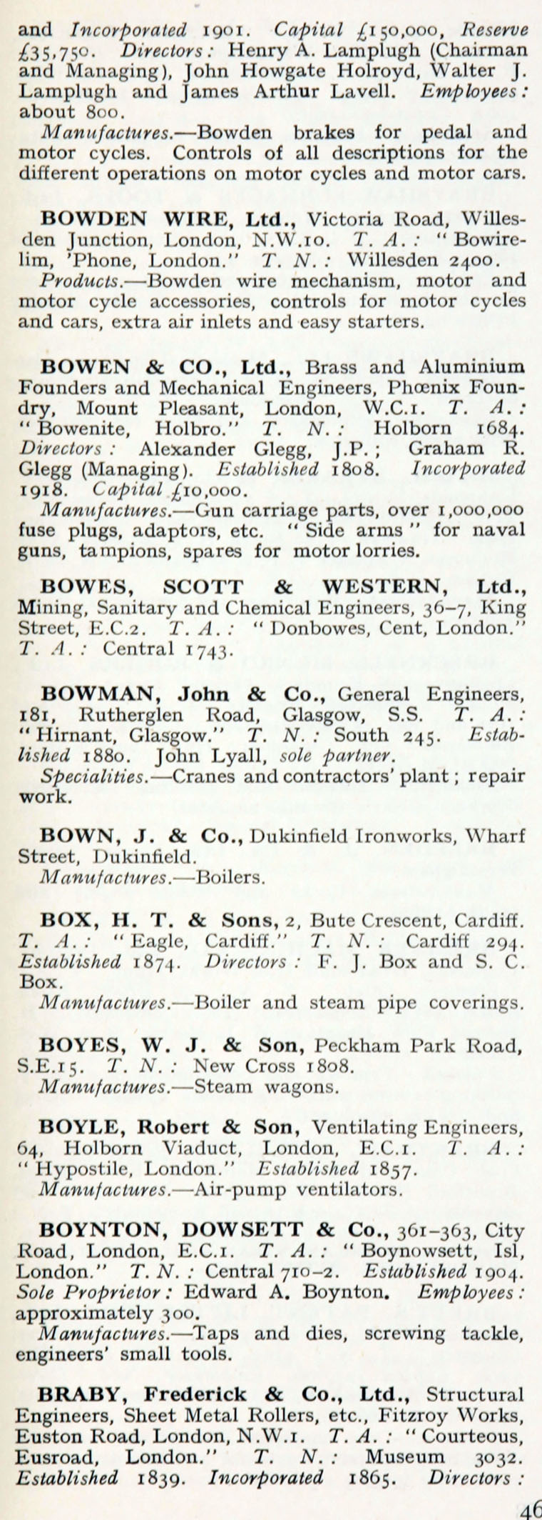 1922 who s who in engineering company b graces guide im1921bwwe p467a jpg