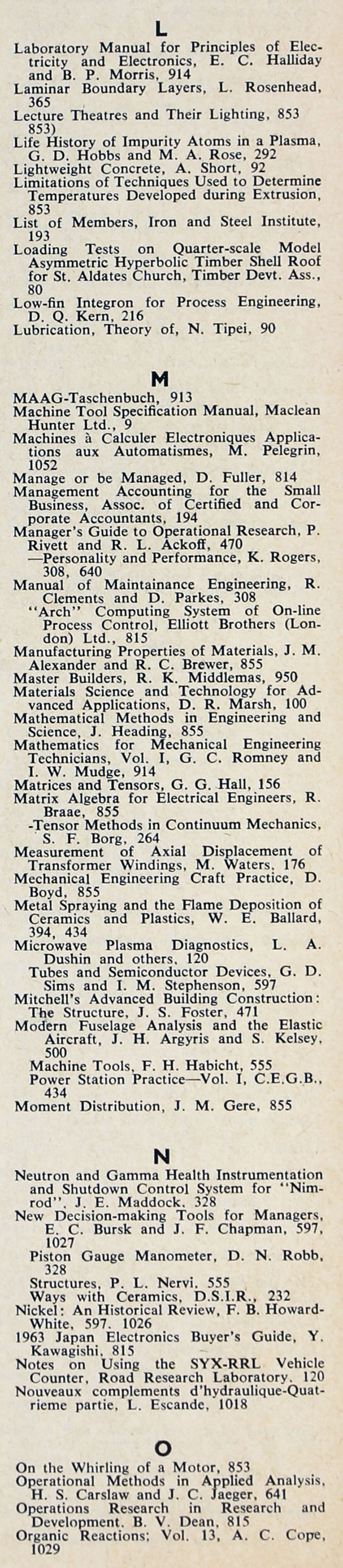 The engineer 1963 jul dec index sections 2 and 3 the engineer 1963 jul dec index fandeluxe Image collections