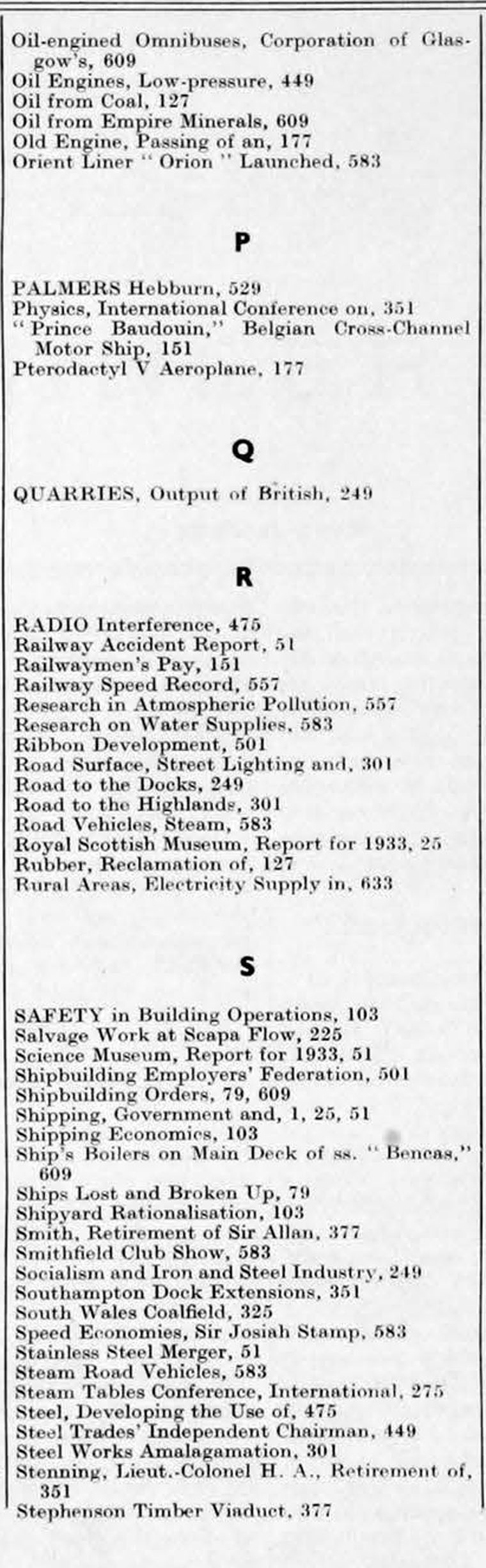 The Engineer 1934 Jul-Dec: Index - Graces Guide