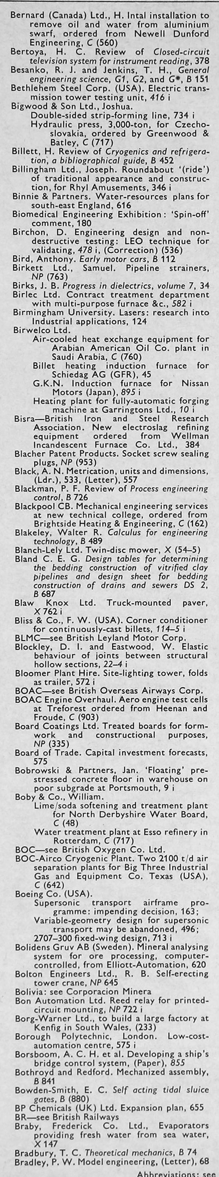 The Engineer 1968 Jul Dec Index Oliver 880 Tractor Wiring Diagram