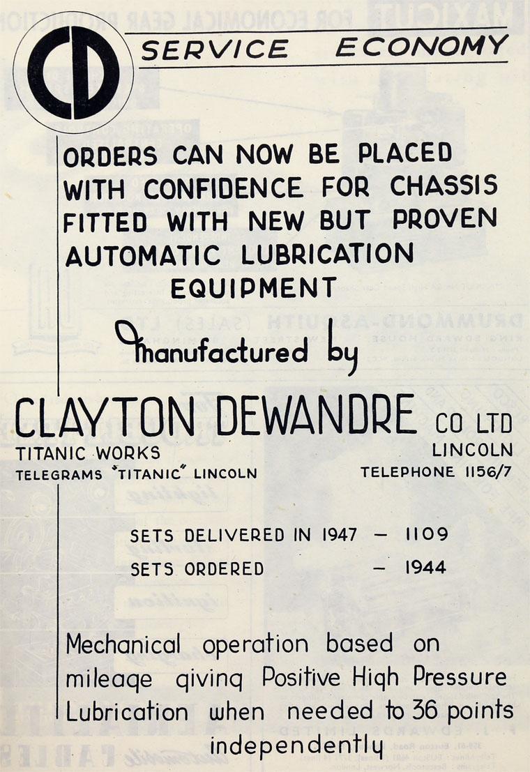 Clayton Dewandre Co - Graces Guide