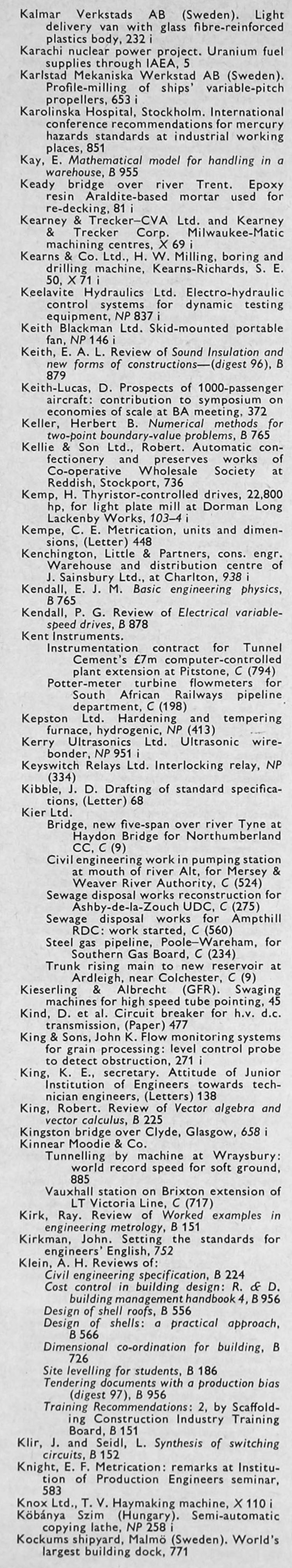 The Engineer 1968 Jul Dec Index John Deere Backhoe Wiring Diagram As Well Thermo King Diagrams