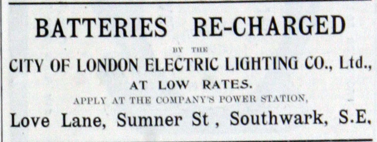 city of london electric lighting co