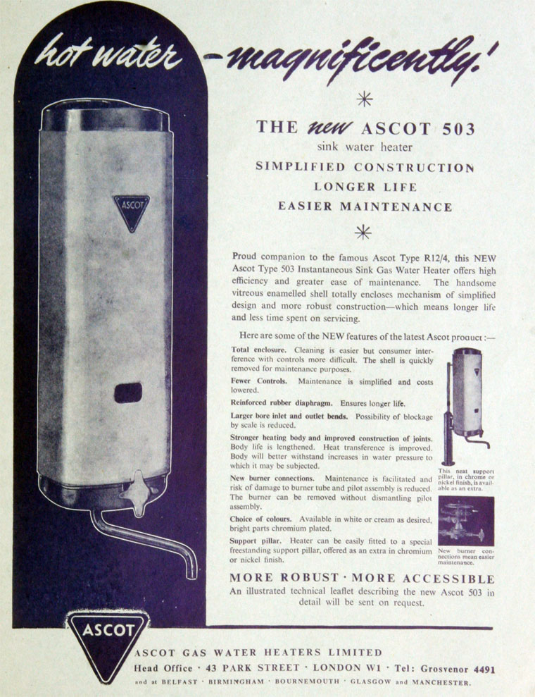 Ascot Gas Water Heaters Graces Guide