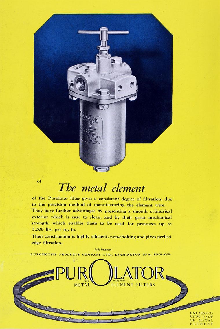 Purolator Fuel Filters May 1947