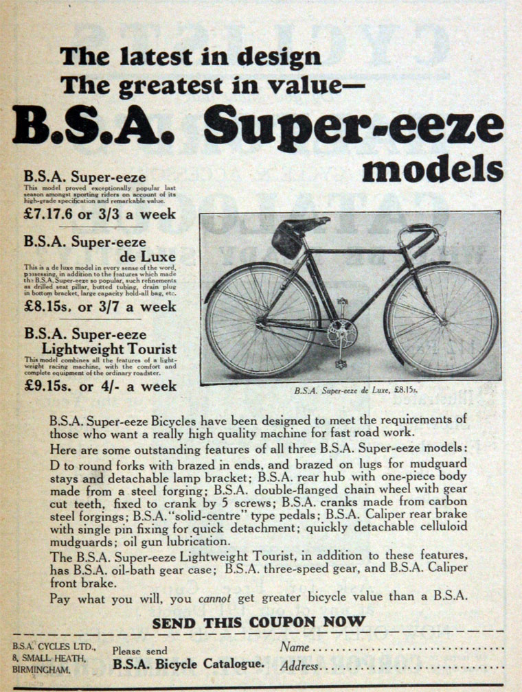 Bsa bicycles old MAKERS: BSA