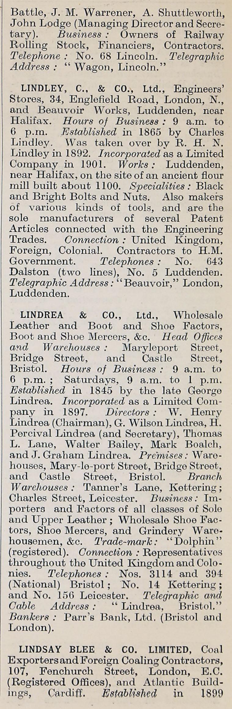 d051e5fccef 1914 Who s Who in Business  Company L - Graces Guide