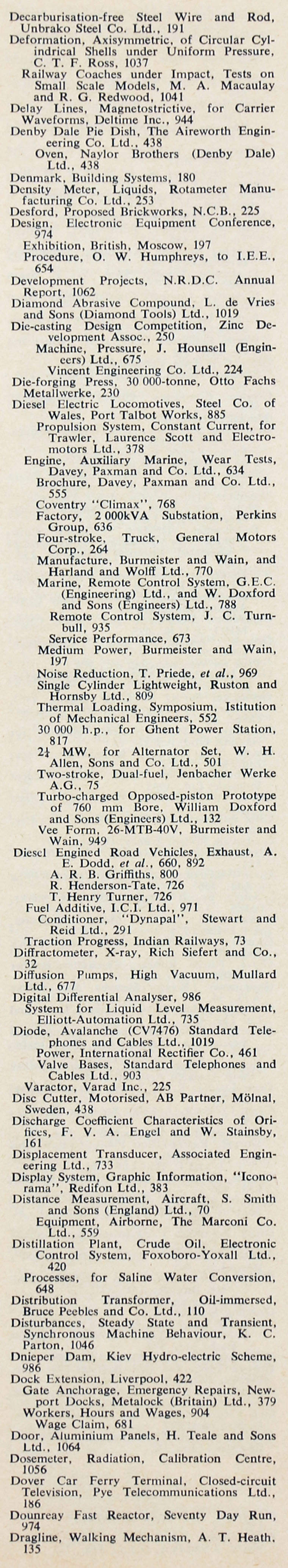 Im1964BEr i015b the engineer 1964 jul dec index sections 2 and 3 graces guide  at gsmportal.co