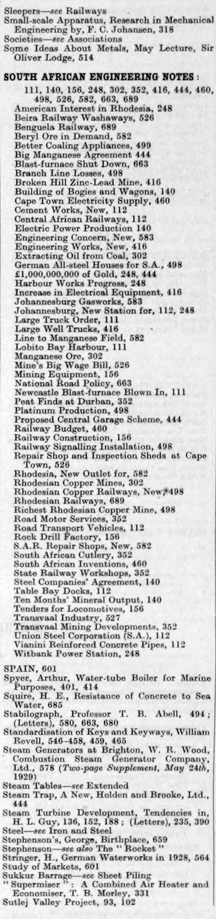 The Engineer 1929 Jan Jun Index Circuit Breakers Witbank O Olxcoza