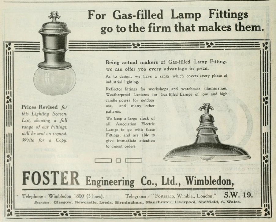 Foster Engineering Co Graces Guide