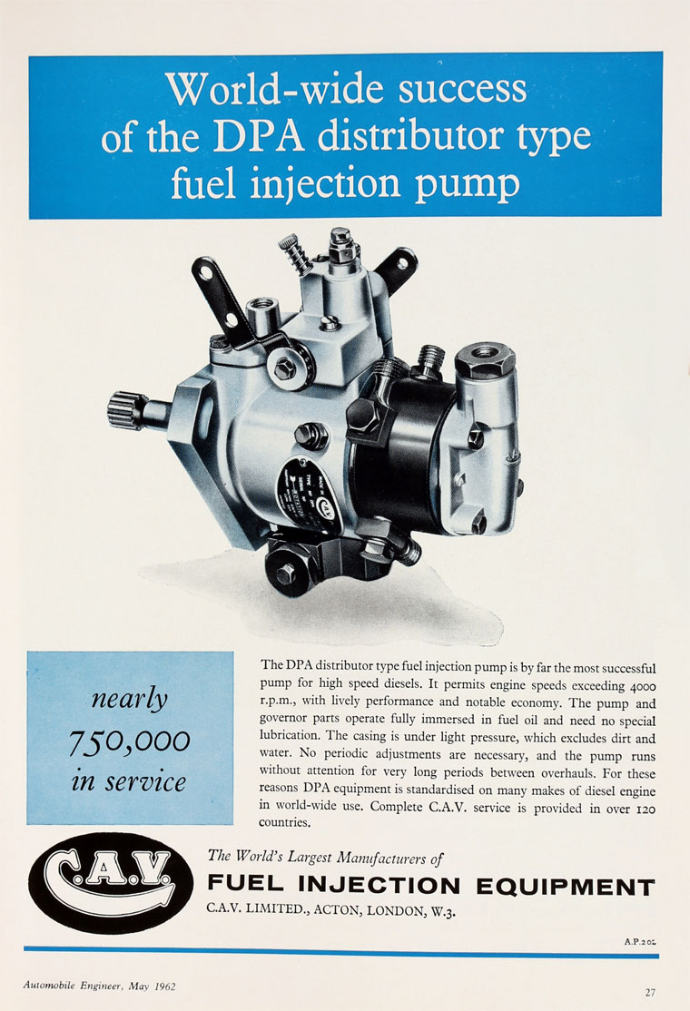 C A V Cav Injection Pump Diagram More Famous Lucas May 1962