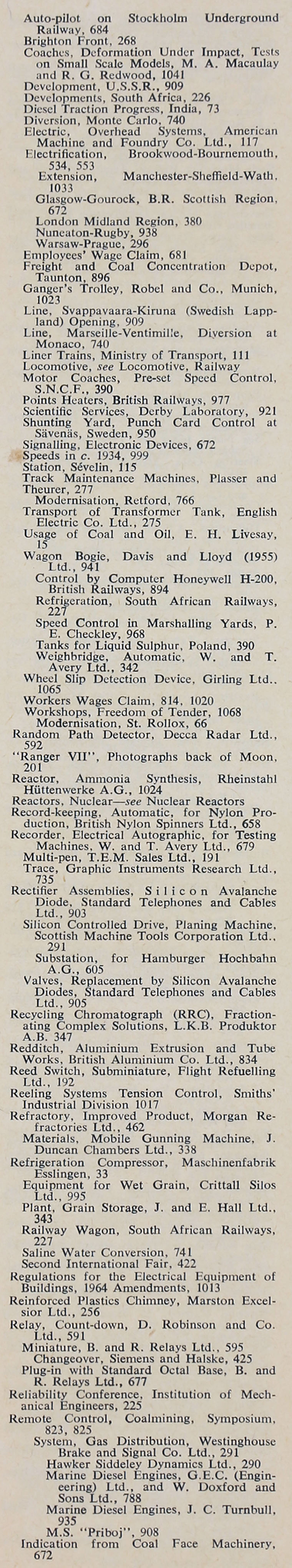 The Engineer  JulDec Index Sections  And  Graces Guide - English electric relay application guide