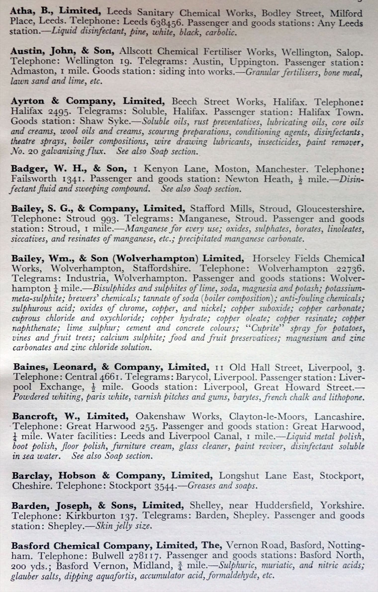 1959 Chemical Manufacturers Directory: Chemical Manufacturers
