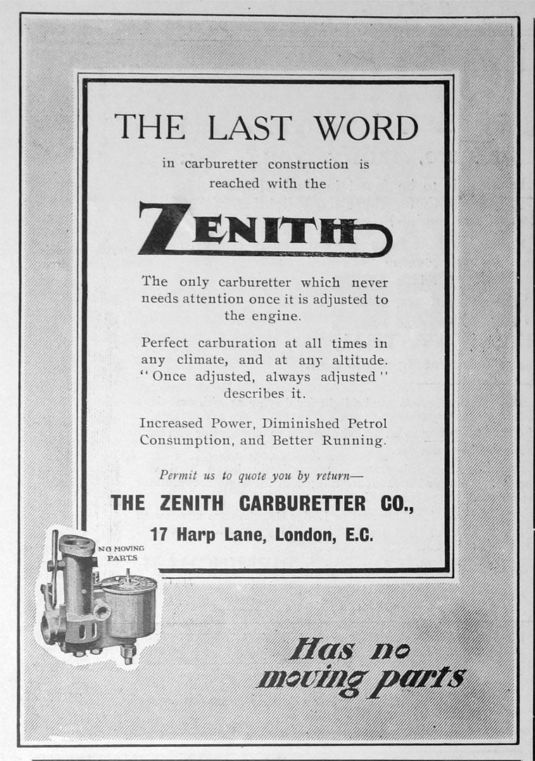 Zenith Carburetter Co - Graces Guide