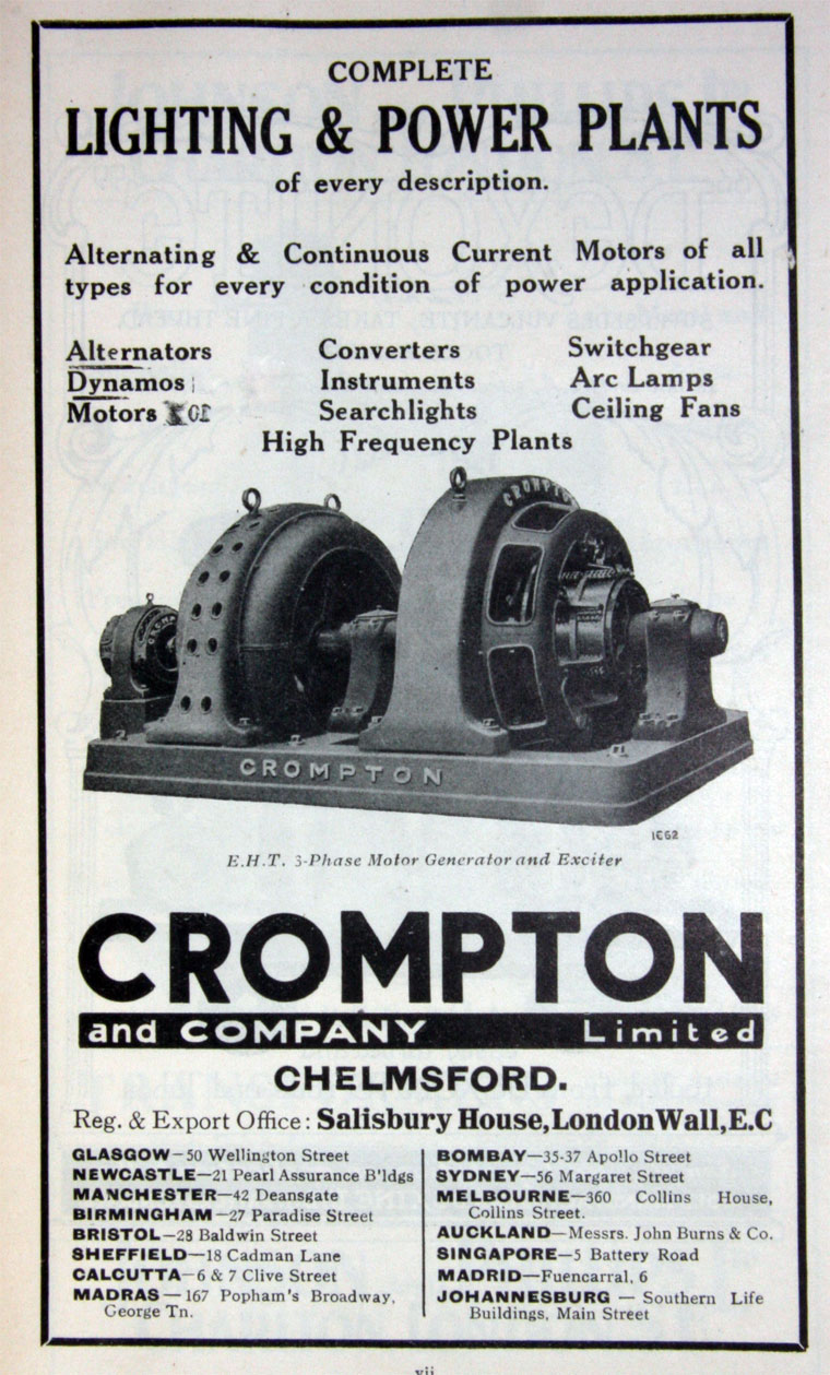 crompton and co graces guide 1903 250 kw steam alternator for bloemfontein