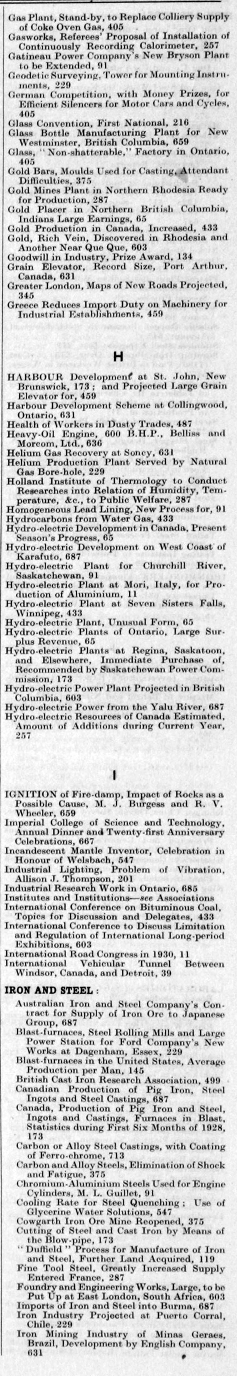 The Engineer 1928 Jul Dec Index