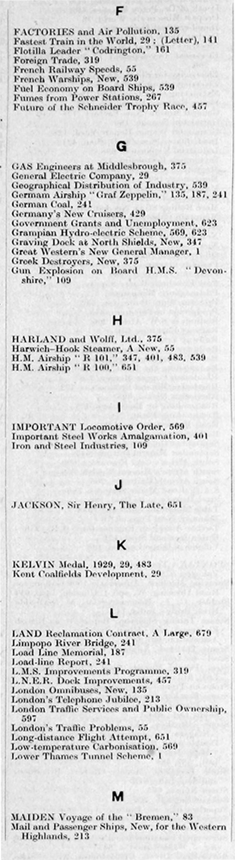 The Engineer 1929 Jul-Dec: Index - Graces Guide