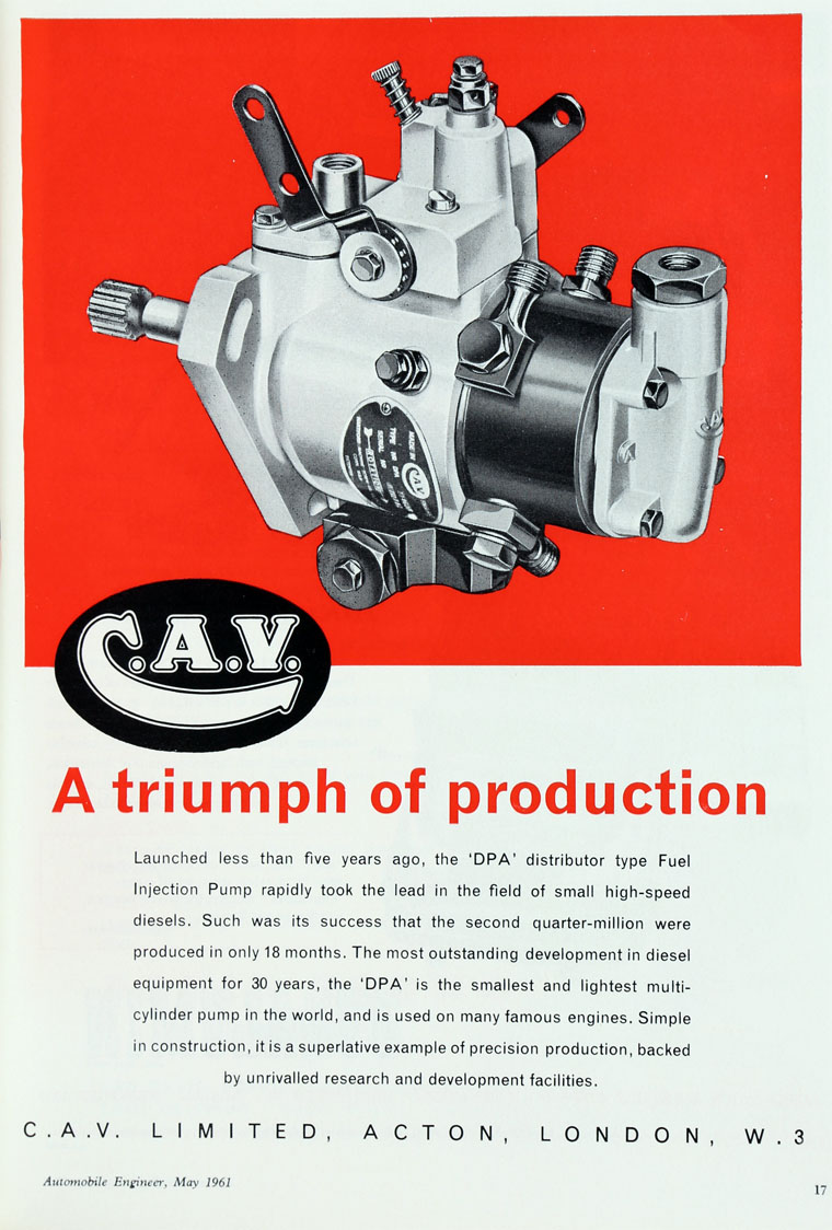 C A V Pump Diagram Further Cav Fuel Injection On May 1961