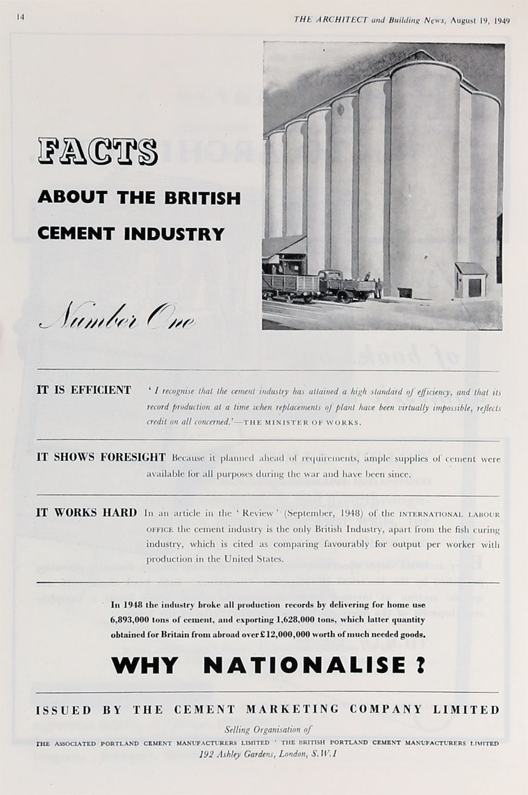 Associated Cement Companies : Cement marketing co