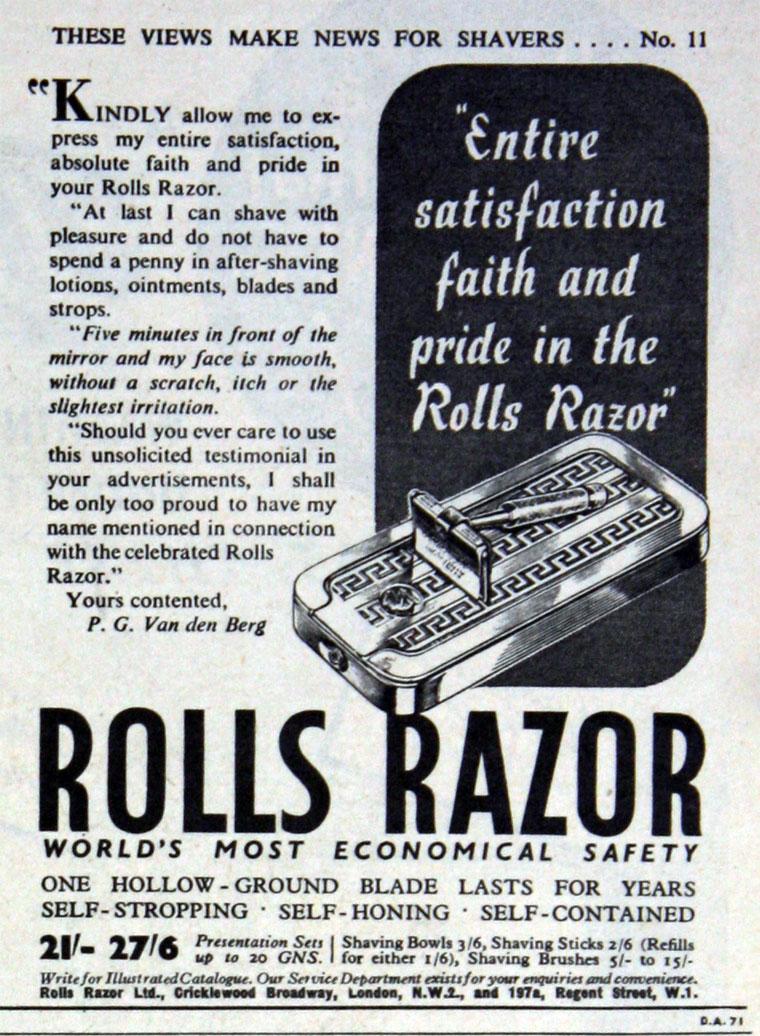 Rolls Razor Graces Guide