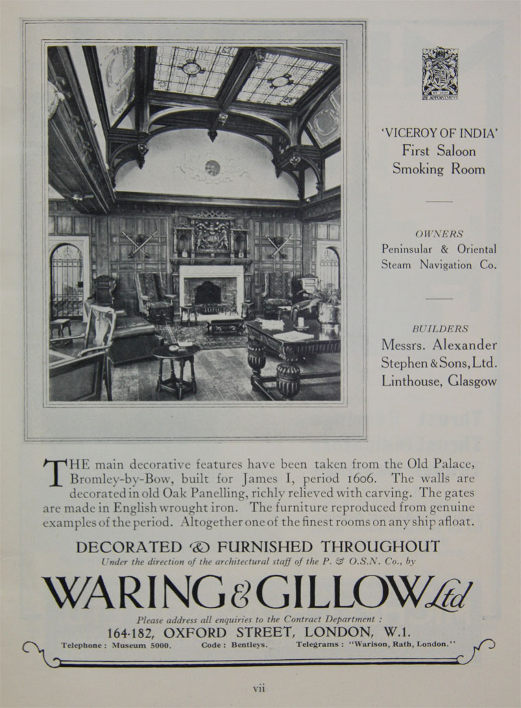 Waring and Gillow - Graces Guide