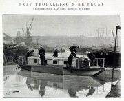1904. Self propelling fire float.